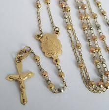 gold rosary 14k gold rosary necklace ebay