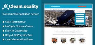 clean locality environmental sanitation service wordpress theme