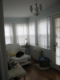 Enclosed Patio Windows Decorating Cool And Charm White Fabric Curtain Windows As Well As White