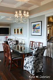 open concept dining room and living room with coffered ceilings