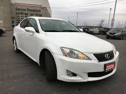 lexus white used 2009 lexus is 250 4 door car in brampton on 8223a