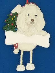 personalized maltipoo ornament white