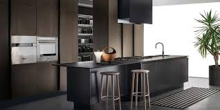 Black And White Kitchen With Curved Island Elektravetro by Ernestomeda Barrique Haus Design Ideen