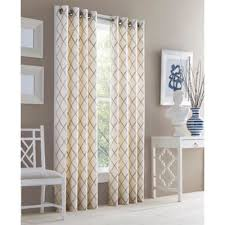 Gold And White Curtains Buy Gold Window Curtain Panels From Bed Bath Beyond