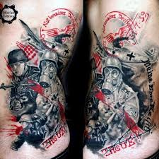 100 military tattoos for men memorial war solider designs