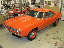 1969 copo camaro price camaro copo clone hugger orange fresh restoration best of everything