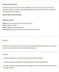 Sample Resume For Science Teachers by Free Teacher Resume 40 Free Word Pdf Documents Download Free