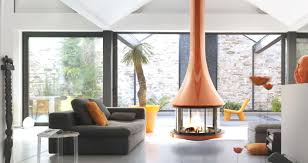 admirable luxury home with glossy central fireplace ideas feat