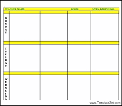 simple lesson plan template word templatezet