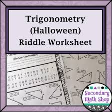 right triangles trigonometry sin cos tan halloween riddle