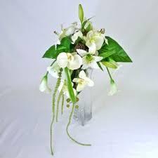 fleur artificielle mariage bouquet de mariée en cascade de fleurs artificielle