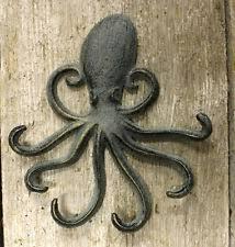 heavy cast iron octopus towel hanger coat hooks hat hook key rack