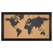 World Map Cork Board by Gifts For Travelers Under 50 U2022 Travelbreak