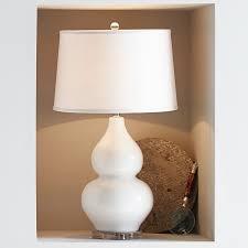 hollis ceramic table lamp white williams sonoma