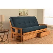 Mission Style Futon Couch Monterey Futon Sofa With Suede Black Mattress Walmart Com