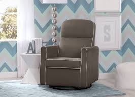 Glider Swivel Chairs Clair Slim Nursery Glider Swivel Rocker Chair Delta Children U0027s