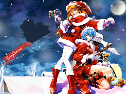 free charming anime girls in christmas wallpaper 1440x900 hd