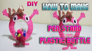 diy craft how to make pen stand with plastic bottle youtube