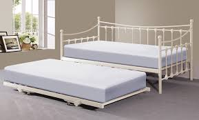 memphis 3ft single day bed with trundle ivory or black ivory