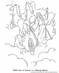 bible story characters coloring page sheets elijah was taken to