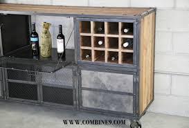 Reclaimed Wood Bar Cabinet Liquor Cabinet Bar Modern Industrial Reclaimed Wood Custom