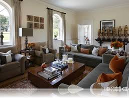 Brown Curtain Grey Sofas Traditional Comfortable Living Room Ideas - Comfortable living room designs