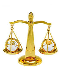 amazon com scales of justice balance 24k gold plated ornament