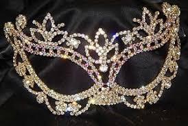 rhinestone masquerade masks gold w ab rhinestone masquerade mask mardi gras party