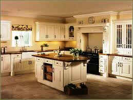 White Kitchen Dark Island Cream Colored Kitchen Cabinets With Dark Island Home Design Ideas