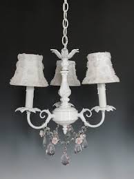 White Shabby Chic Chandelier by Shabby Chic Lighting Fixtures Shabby Chic Doily Pendant Light