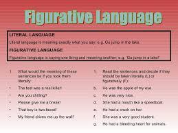 all worksheets figurative vs literal language worksheets