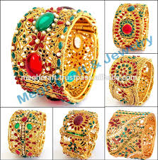 bangle style bracelet images Rajwada style polki bracelets gold plated indian traditional polki jpg