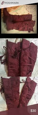 s knee boots size 9 burgundy boots beautiful faux burgundy suede the knee boots