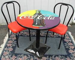 coca cola table and chairs coca cola table and chairs brass lantern antiques