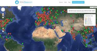 World Wide Map Ibeacon Locations Worldwide Map Beacon Ninja