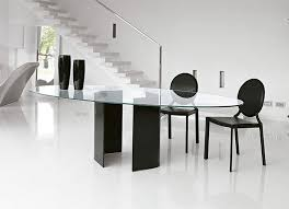 Contemporary Glass Dining Room Sets Dining Tables Stunning Modern Oval Dining Table Modern Oval
