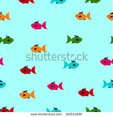 childrens pattern fish wrapping paper vector stock vector