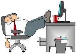 le de bureau sur pied pieds sur le bureau illustration stock illustration du ouvrier