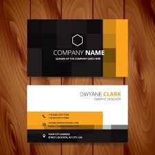 Free Business Card Maker Download Modern Business Card With Pixelated Style Vector Free Download