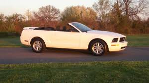 white mustang 2006 2006 ford mustang convertible for sale white low great