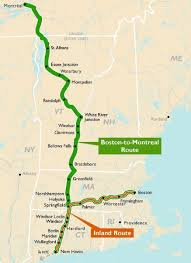 Green Line Map Boston by Boston U2013 Springfield U2013 New Haven Montreal Trains In The Valley