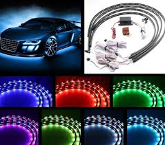 Auto Led Strip Lights by 7 Color 4pcs Led Strip Under Car Tube Underglow Underbody System