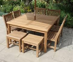 8 seat patio table square 8 seater garden table and chairs set