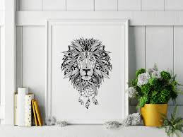 boho lion wall art black and white lion wall art 8x10 lion boho lion wall art black and white lion wall art 8x10 lion artwork lion art boho lion art lion printable wall art home decor