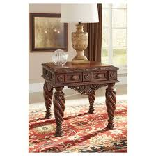 north shore end table dark brown signature design by ashley