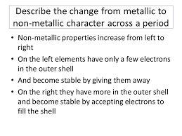 Periodic Table Changes Periodic Table Changes Across The Periodic Table Periodic