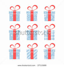 boxes with bows set colorful gift boxes bows ribbons stock vector 377115895