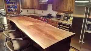 comptoir de cuisine noir ilôt de cuisine en noyer noir black walnut kitchen island espace