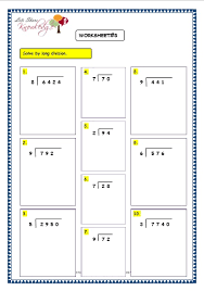 division worksheets without remainders u0026 division 2digit by1digit