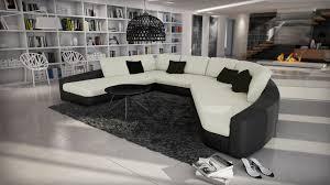 canap panoramique design canapés d angle cuir mobilier cuir